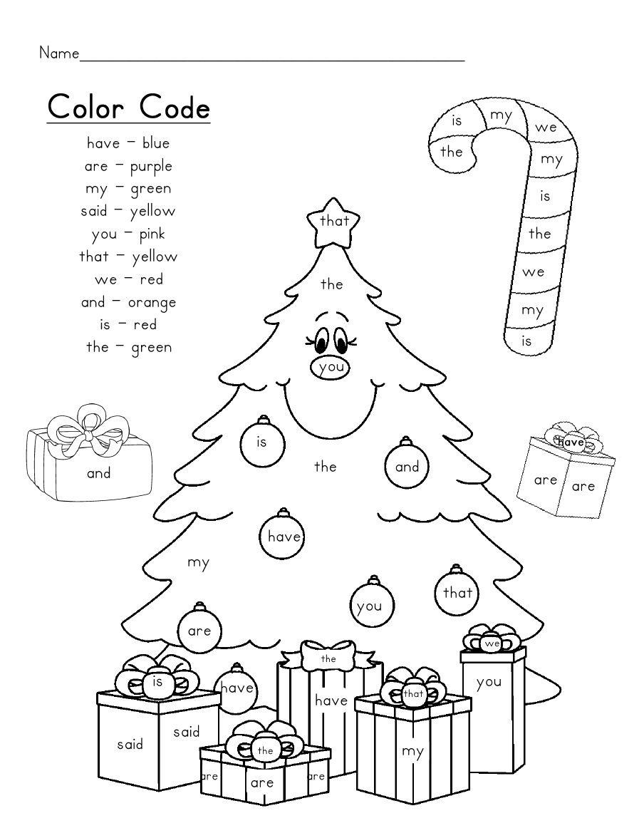 Christmas Tree Sight Words | Scribd | Christmas Kindergarten