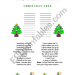 Christmas Tree Vocabulary Exercise