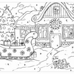 Christmas Village Coloring Pages Elegant Coloring Www