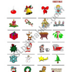Christmas Vocabulary - Esl Worksheetgaloucha