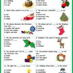 Christmas Vocabulary Quiz Worksheet - Free Esl Printable