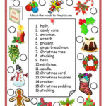 Christmas Vocabulary Ws - English Esl Worksheets For