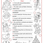 Christmas Word Scramble - English Esl Worksheets For