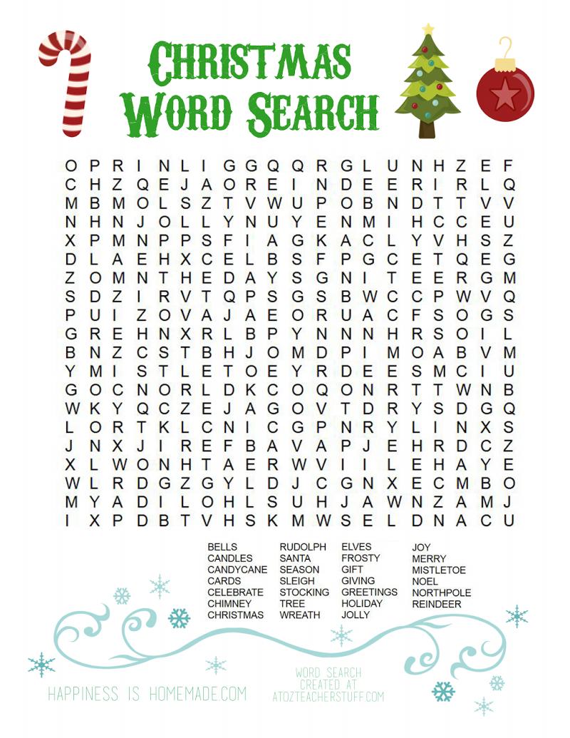 Christmas Word Search.pdf - Google Drive | Christmas