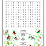 Christmas Wordsearch - English Esl Worksheets For Distance