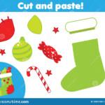 Christmas Worksheet Cut Paste Stock Illustrations – 212