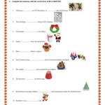 Christmas Worksheet - English Esl Worksheets For Distance