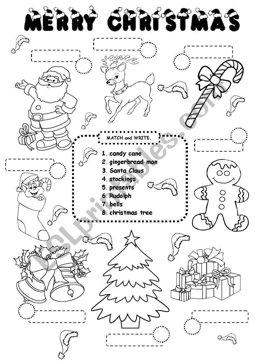 Christmas Worksheet - Esl Worksheetiamirish21