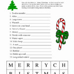 Christmas Worksheet For Children Printable | Printable