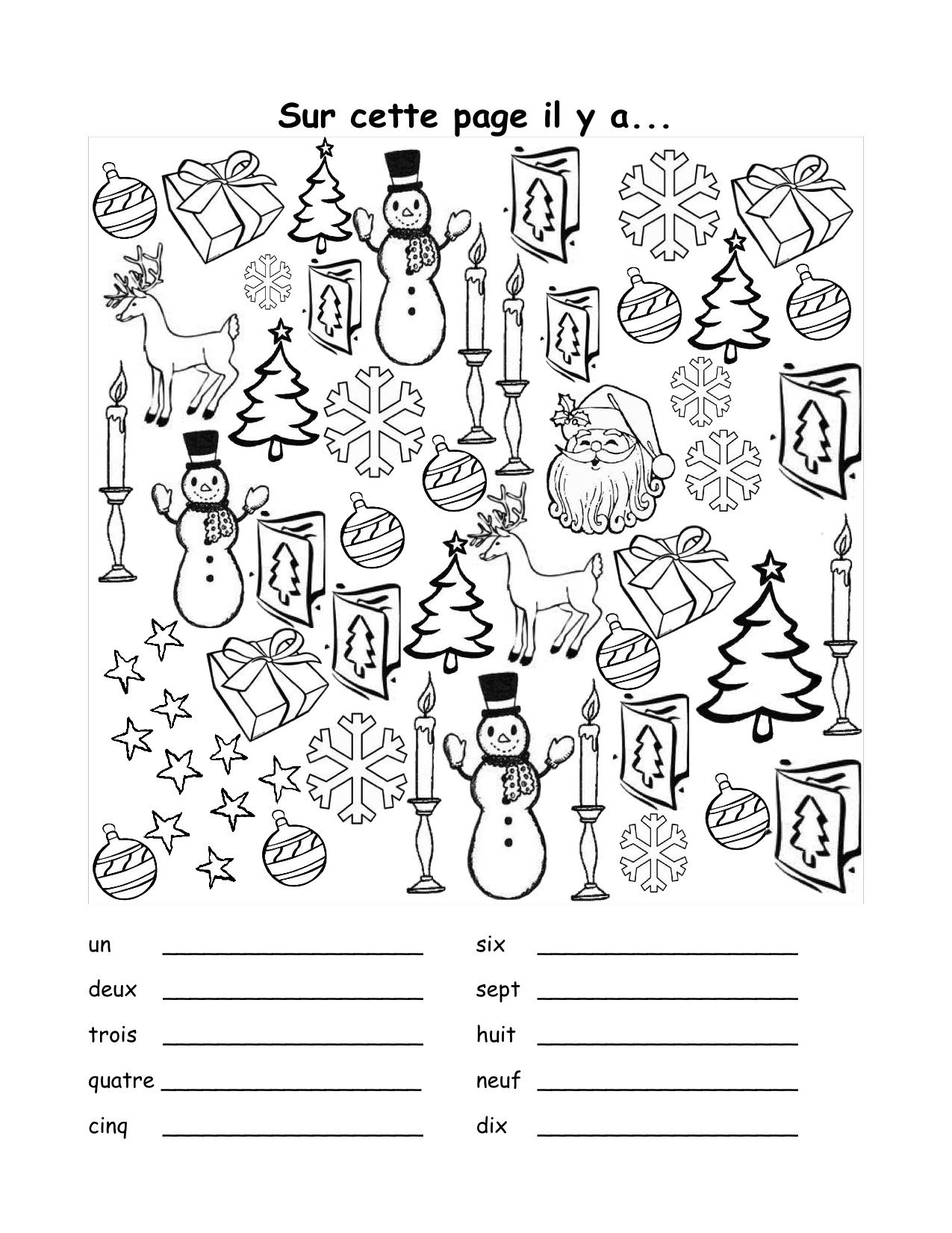 Christmas Worksheet In French 614923 | French Christmas