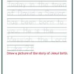 Christmas Worksheets For Preschoolers [Jesus' Birth] – Mary
