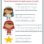 Christmas Worksheets For Preschoolers [Jesus' Birth] – Mary