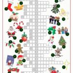 Christnas Time Crossword Puzzle - English Esl Worksheets For