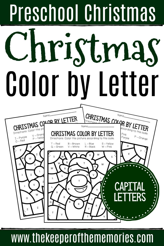 Colorcapital Letter Christmas Preschool Worksheets