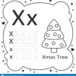 Coloring Alphabet Letters Xmas Tree Stock Illustration