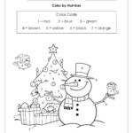 Colornumber Worksheet Free   Christmas Math Worksheets