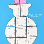 Contractions Snowman Craft Alternative   Christmas Literacy