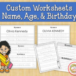 Custom Name Tracing Practice Learn To Write Name Practice