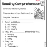 December Reading Comprehension Kindergarten Worksheets