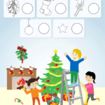 Decorate The Christmas Tree Worksheet - Count & Color