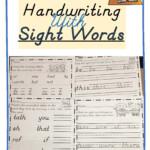 D'nealian Handwriting With Sight Words | Writing Sight Words