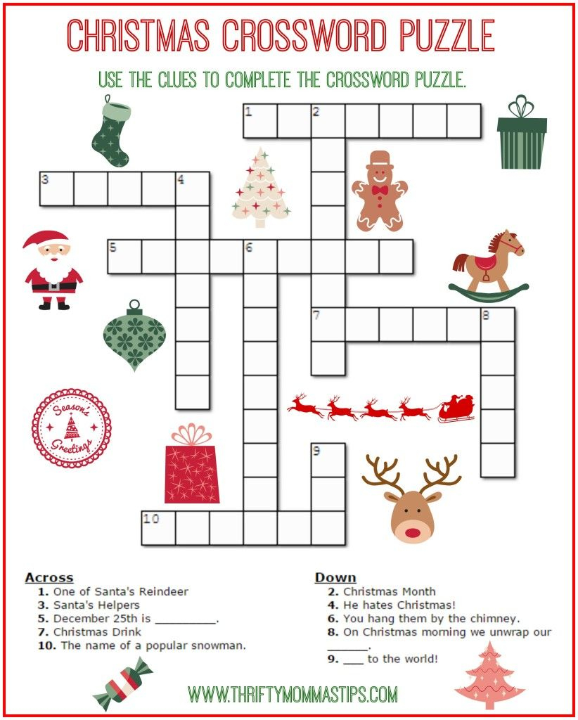 Do You Enjoy Christmas Crossword Puzzles And Other Word