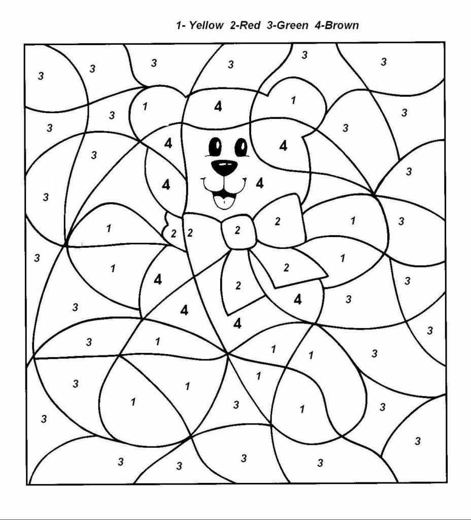 Easy Colornumber For Preschool And Kindergarten
