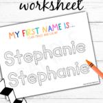 Editable Name Writing Worksheet Tracing Sheetscustom Kid