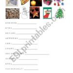 English Worksheets: Christmas Anagrams