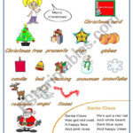 English Worksheets: Christmas Pictionary