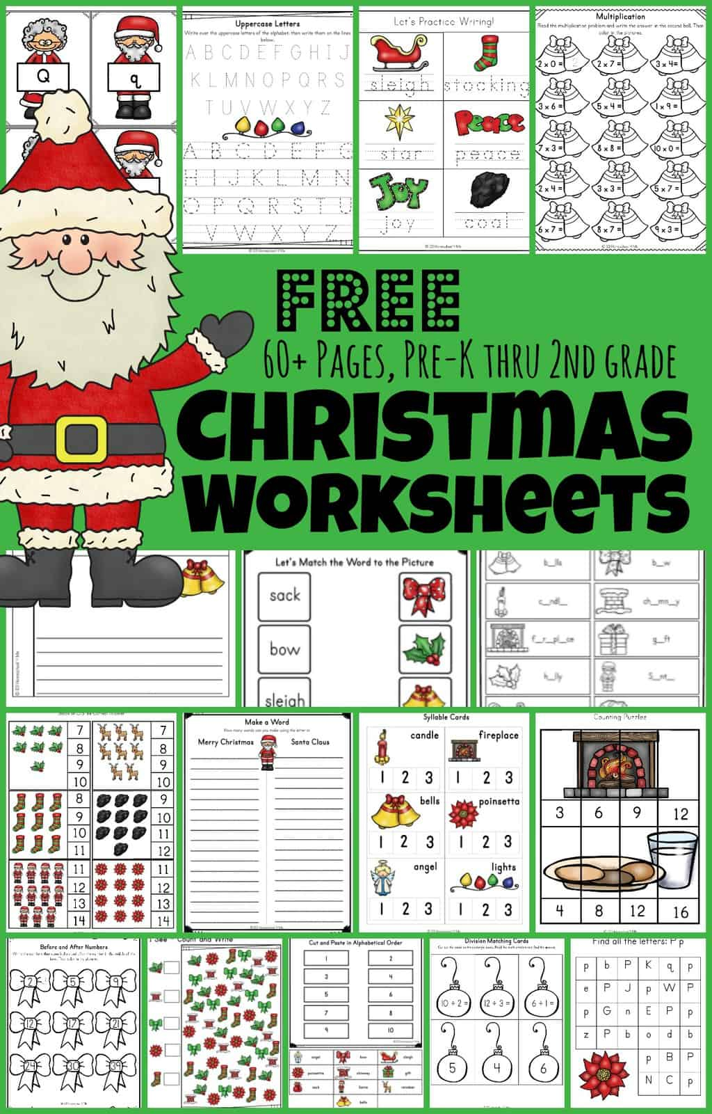 🎅🏻 Free Christmas Worksheets