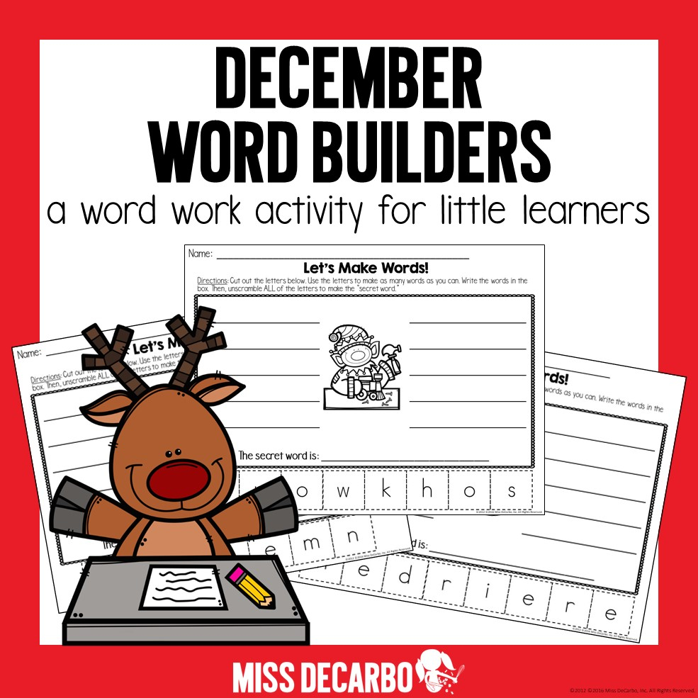Free Christmas Activities, Ideas, And Games For Literacy