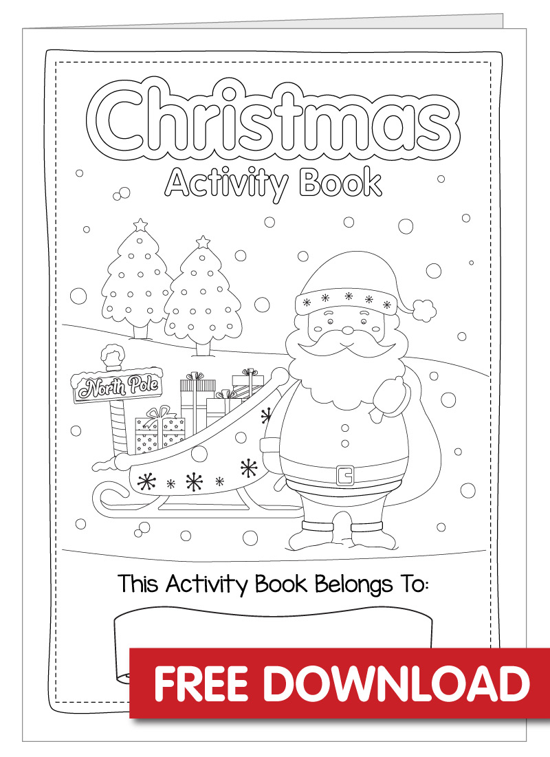 Free Christmas Activity Book Printable - Bright Star Kids