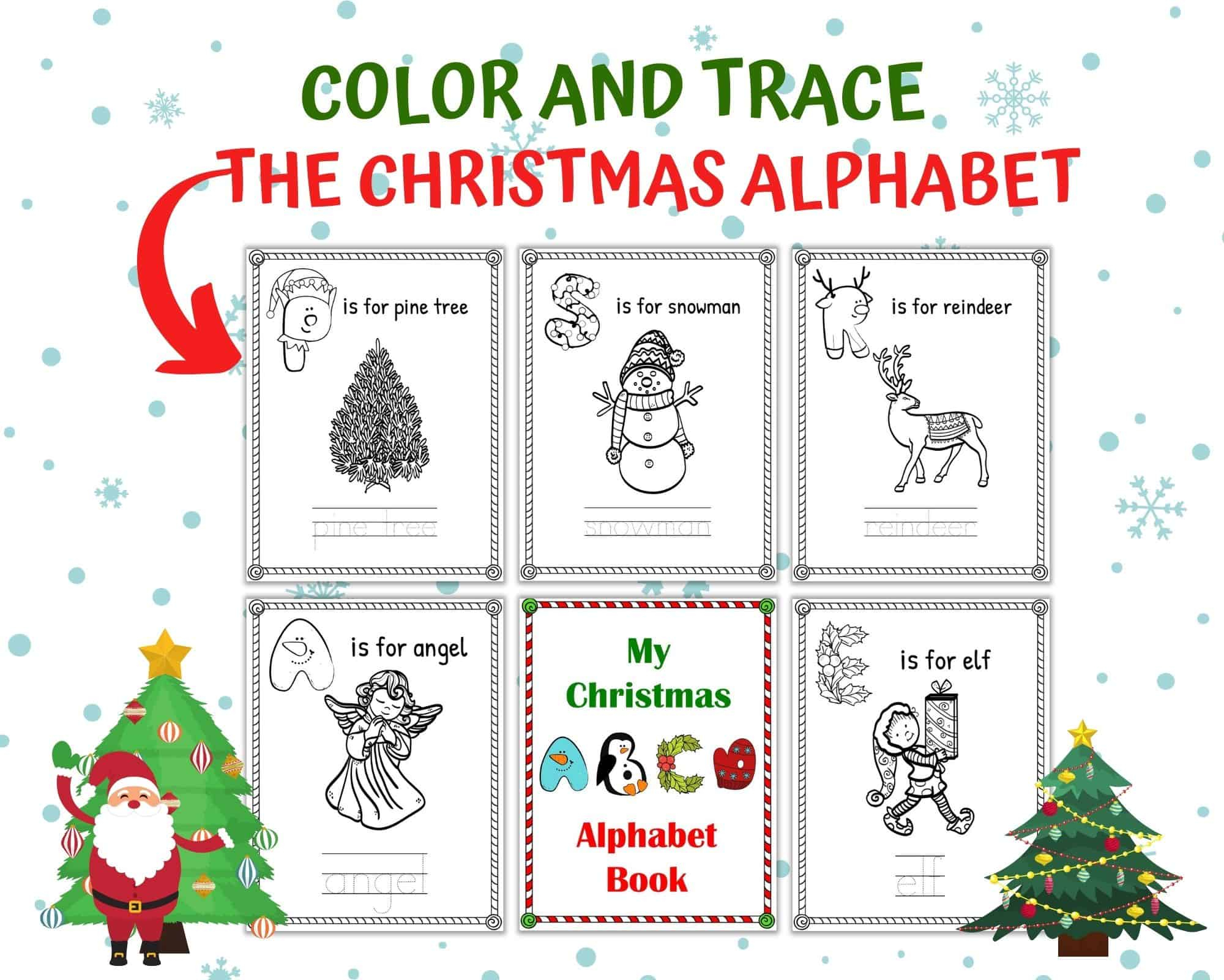 Free Christmas Alphabet Worksheets For Kindergarten | One