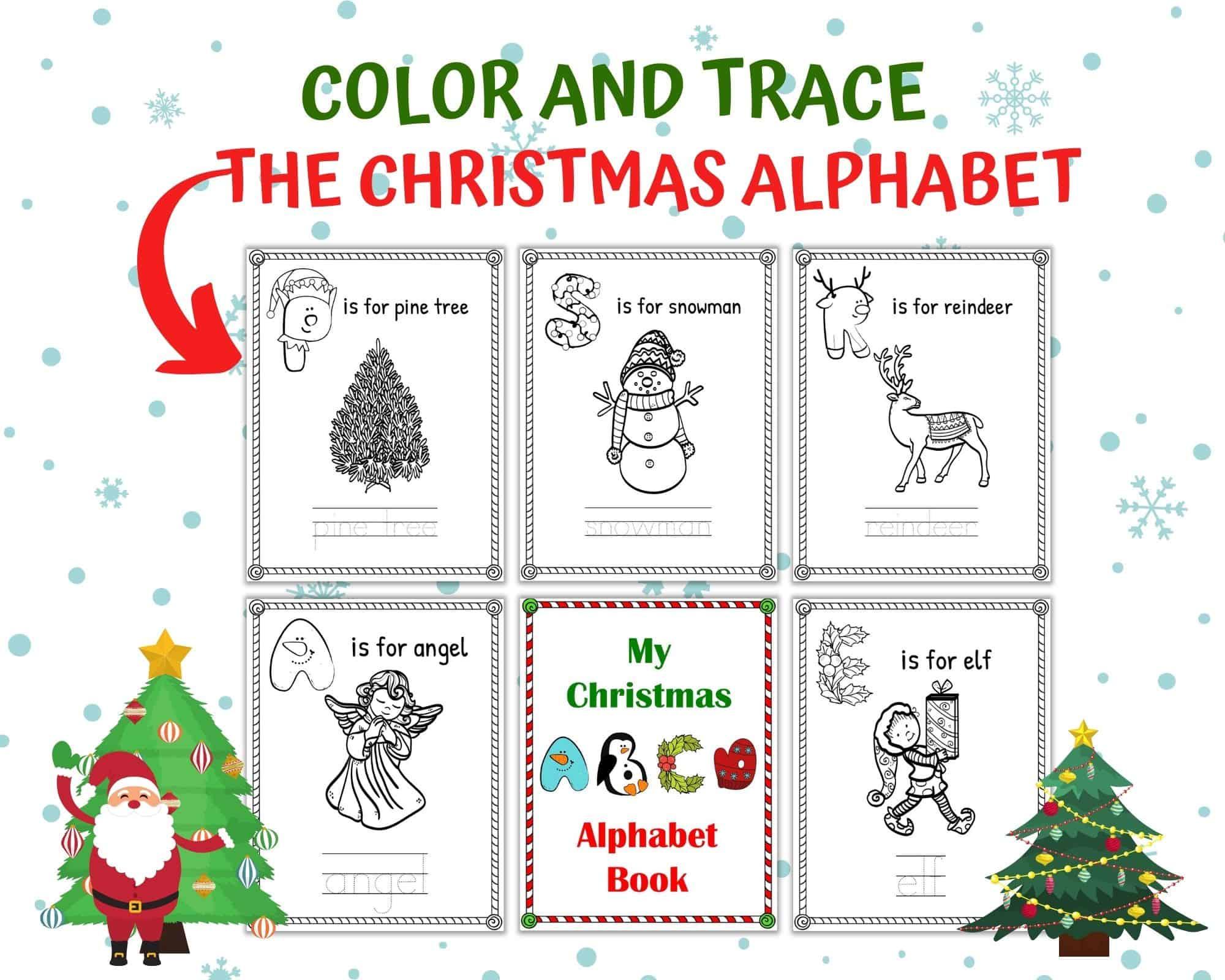 Free Christmas Alphabet Worksheets For Kindergarten   One