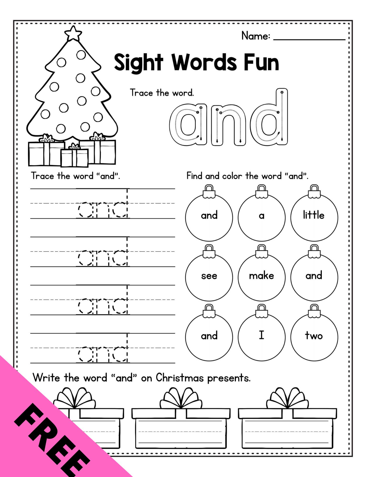 Free Christmas Math Activities Preschool December Morning