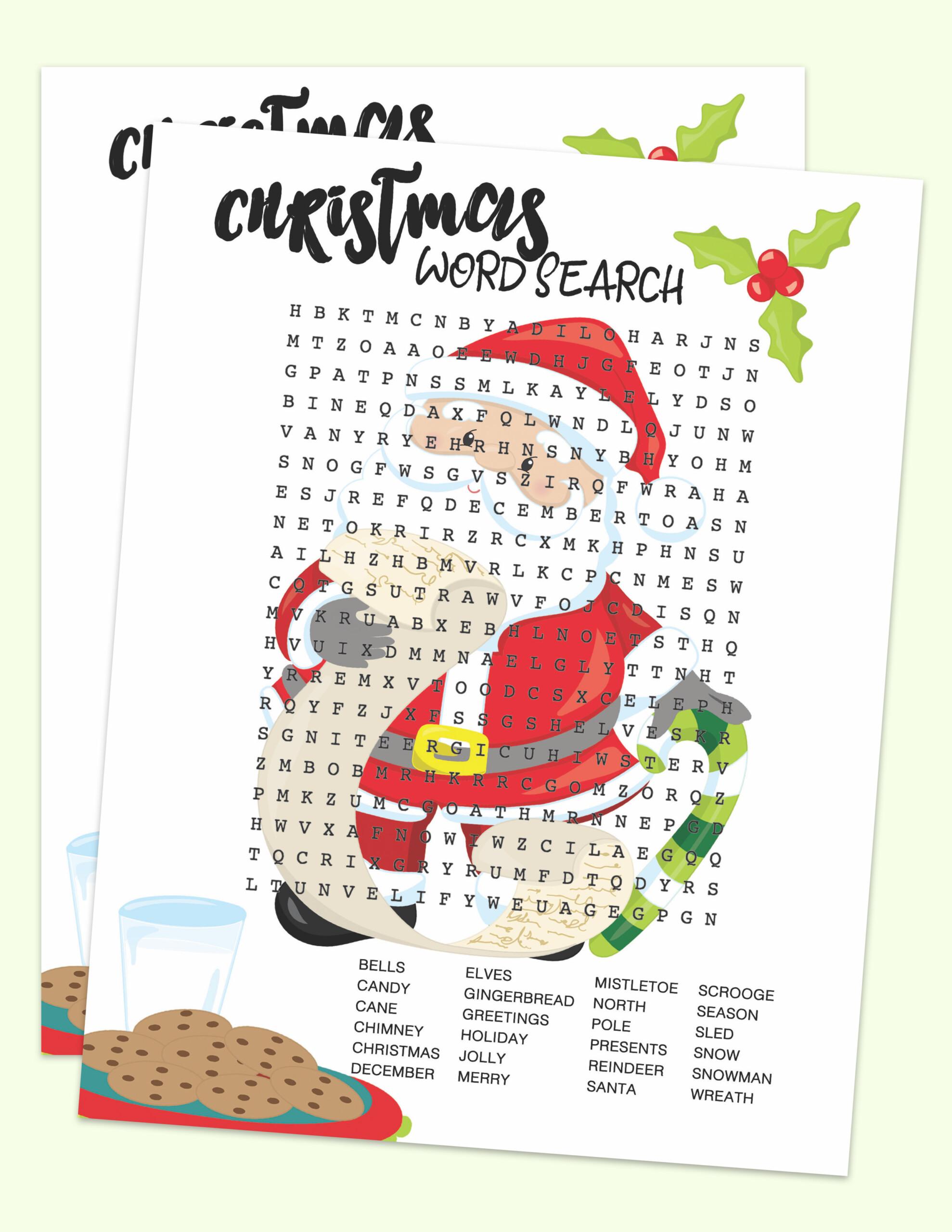 Free Christmas Printable - Santa Word Search - About A Mom