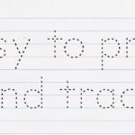 Free Font Tracing Letters - Renewgraph