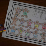 Free Gingerbread Sight Word Coloring Sheets