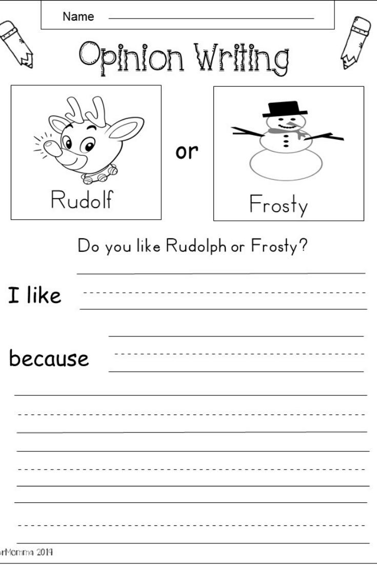 Free Kindergarten Holiday Writing | Christmas Writing