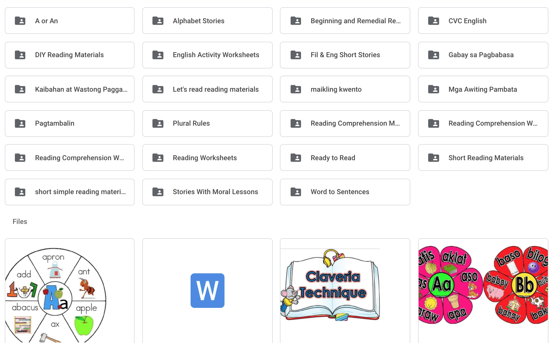 Free Learning Materials