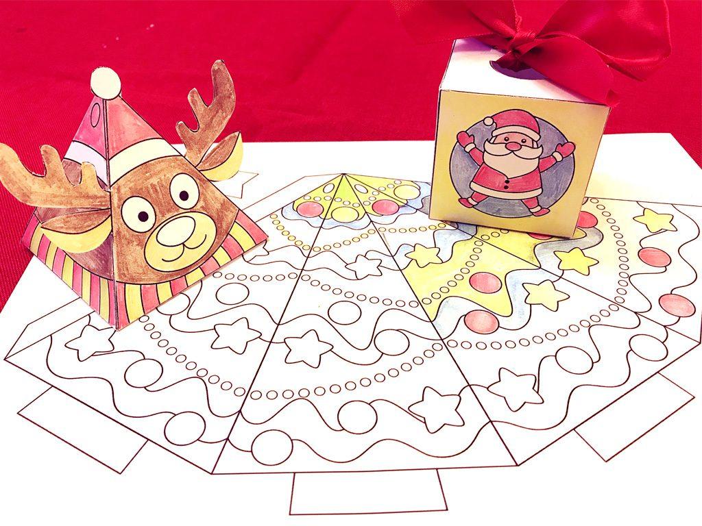 Free Printable 3-D Christmas Crafts. Teachersmag