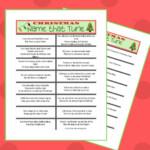 Free Printable Christmas Name That Tune Game & More
