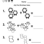 Free Printable Christmas Worksheets For Kindergarten