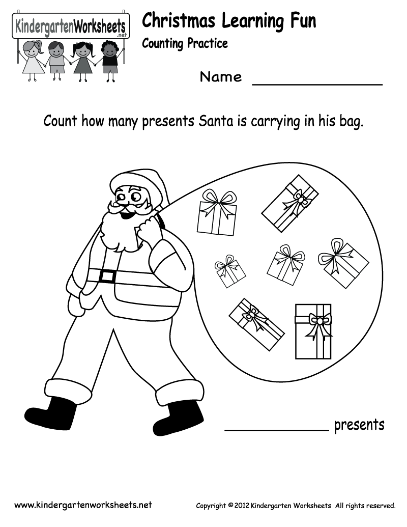 Free Printable Holiday Worksheets | Kindergarten Santa