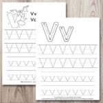Free Printable Letter V Tracing Worksheets - The Artisan Life