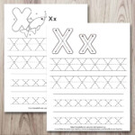 Free Printable Letter X Tracing Worksheet (X Is For X-Ray