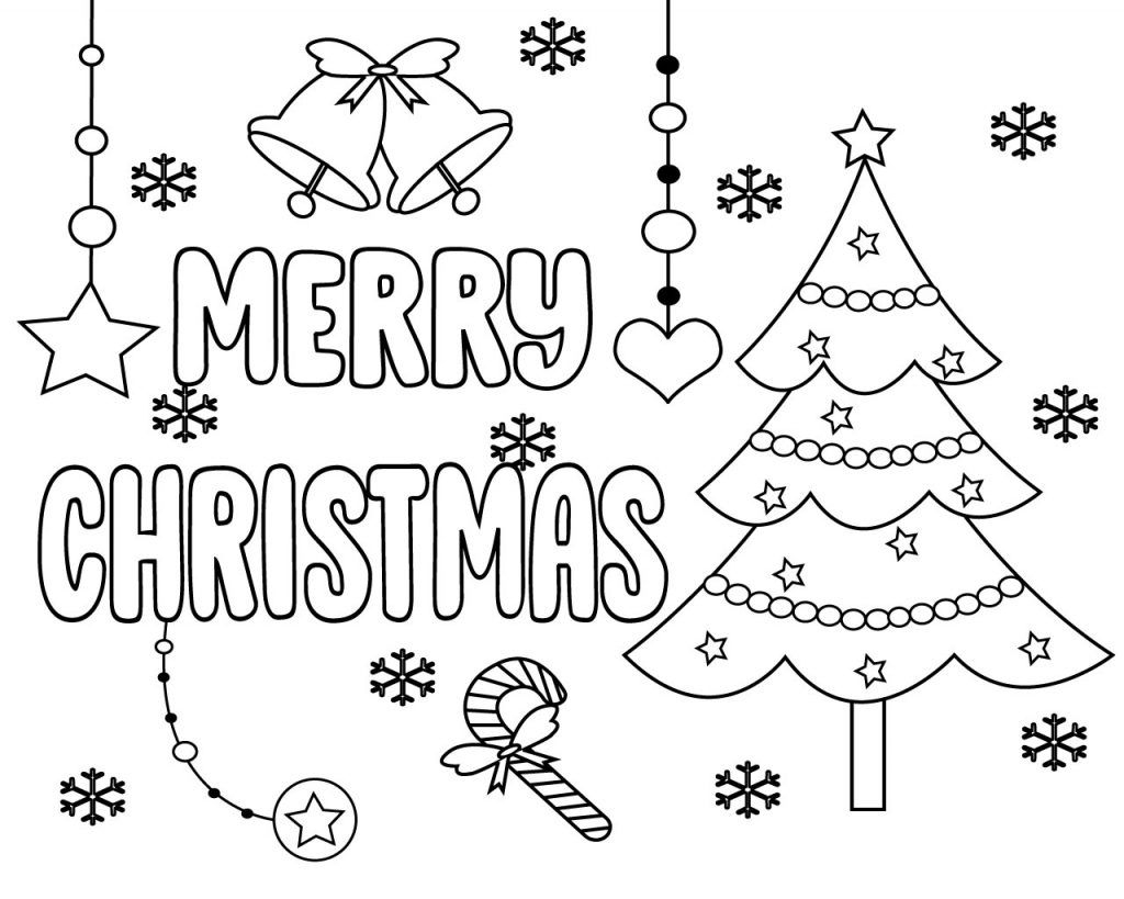 Free Printable Merry Christmas Coloring Pages | Printable