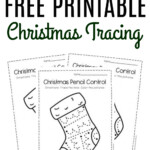 Free Printable Pencil Control Christmas Preschool Worksheets