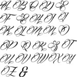 Gangster Cursive Tattoo Fonts